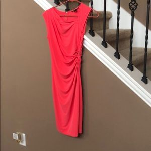 Victoria's Secret side ruched coral dress xs